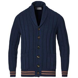 Brunello Cucinelli Shawl Collar Cardigan Navy