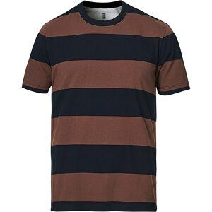 Brunello Cucinelli Block Stripe Short Sleeve T-Shirt Brown/Navy