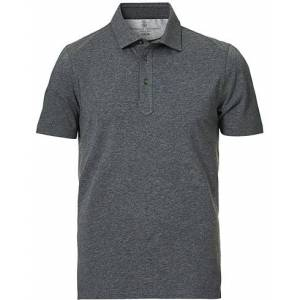 Brunello Cucinelli Soft Jersey Short Sleeve Polo Charcoal