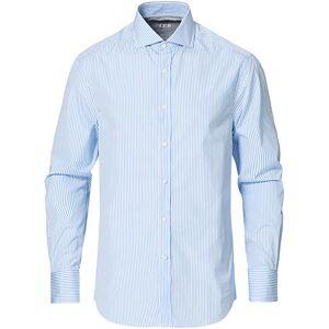 Brunello Cucinelli Slim Fit Striped Poplin Shirt Light Blue
