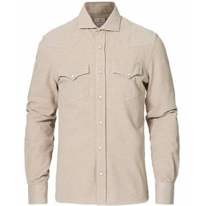 Brunello Cucinelli Jersey Double Pocket Shirt Beige