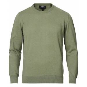 A.P.C. Cotton/Cashmere Crew Neck Sweater Sage
