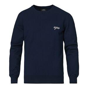 A.P.C. Otis Logo Crew Neck Sweater Navy