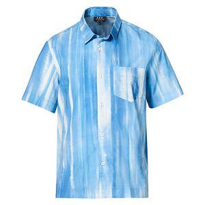 A.P.C. Joseph Short Sleeve Shirt Light Blue