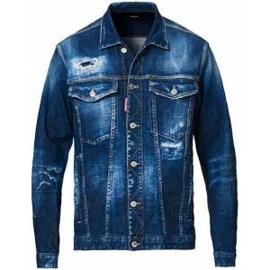 Dsquared2 Ripped Denim Jacket Indigo