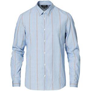 A.P.C. Anthony Striped Shirt Light Blue