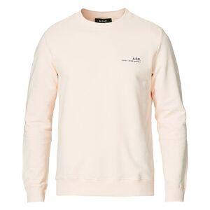 A.P.C. Item Crew Neck Sweatshirt Pale Pink