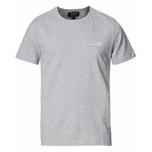 A.P.C. Item Short Sleeve T-Shirt Heather Grey