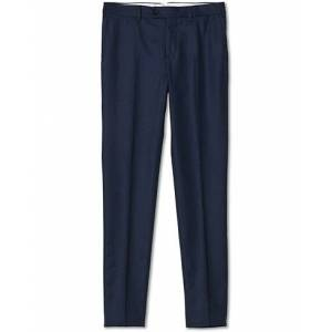 Brunello Cucinelli Slim Fit Flannel Trousers Dark Blue