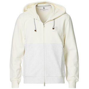 Brunello Cucinelli Soft Fleece Cotton Zip Sweater Off White