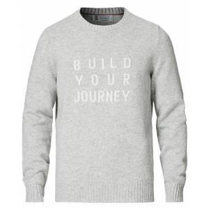 Brunello Cucinelli Journey Cashmere Pullover Light Grey