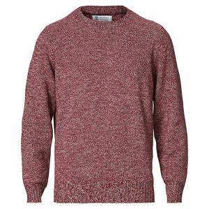 Brunello Cucinelli Cashmere Chine Crew Neck Sweater Burgundy