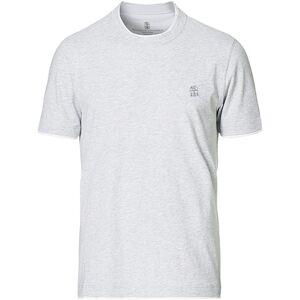 Brunello Cucinelli Short Sleeve Logo T-Shirt Light Grey