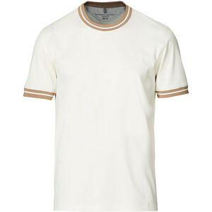 Brunello Cucinelli Contrast Collar T-Shirt White/Beige