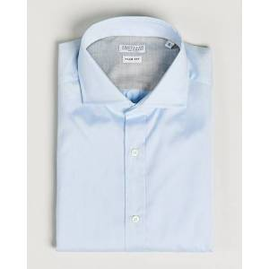 Brunello Cucinelli Slim Fit Twill Cotton Shirt Light Blue
