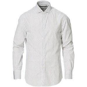 Brunello Cucinelli Slim Fit Striped Cotton Shirt White/Beige