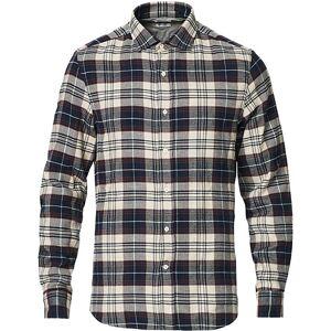 Brunello Cucinelli Slim Fit Flannel Shirt Navy Check