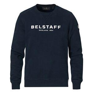 Belstaff 1924 Crew Neck Logo Sweat Dark Ink