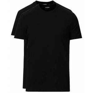 Dsquared2 2-Pack Cotton Stretch Crew Neck Tee Black