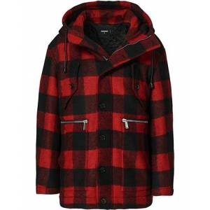 Dsquared2 Check Logo Jacket Black/Red