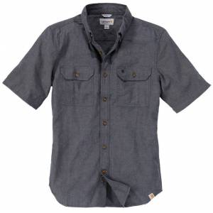 Carhartt Fort Solid Kortärmad skjorta S Grå