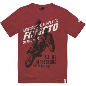 FC-Moto Team-FCM T-shirt M Röd