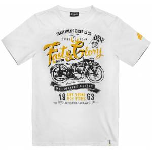 FC-Moto Fast and Glory T-shirt L Vit