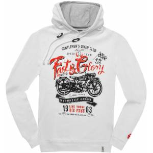 FC-Moto Fast and Glory Hoodie XL Vit