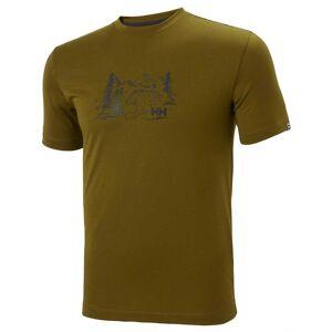Helly Hansen Skog Graphic Tshirt XXL Green