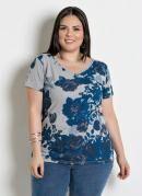 Blusa com Tira nas Costas Plus Size Floral