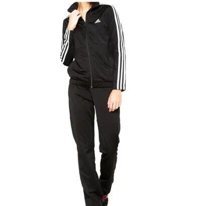 Agasalho Adidas Back 2 Basic 3S Feminino - Feminino-Preto+Branco