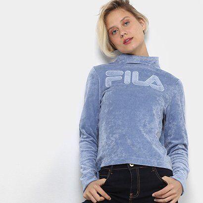 Blusa Fila Candy Shop Feminina - Feminino-Azul