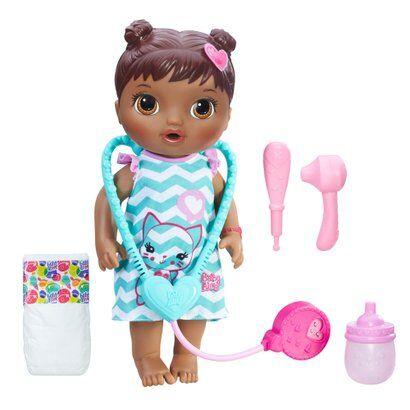 Boneca Baby Alive - Negra - Cuida de Mim - C2693 - Hasbro - Feminino-Incolor