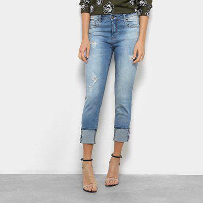 Calça Jeans Forum Cigarrete Marisa Feminina - Feminino-Jeans