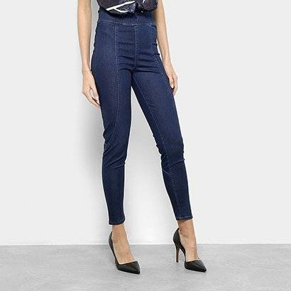 Calça Jeans Jegging Forum Cintura Alta Feminina - Feminino-Azul