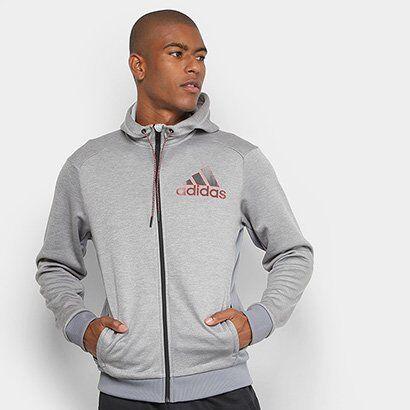 Jaqueta Adidas Comm G Fz Masculina - Masculino-Cinza