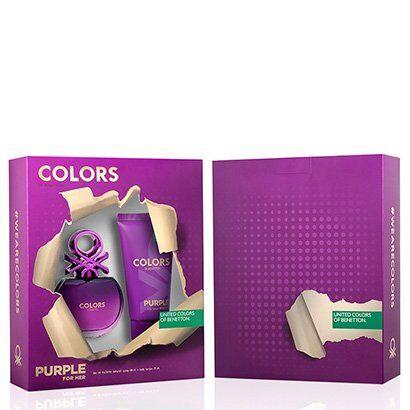 Kit Perfume Colors Purple Feminino Benetton Eau de Toilette 80ml + Body Lotion 75ml - Feminino-Incolor