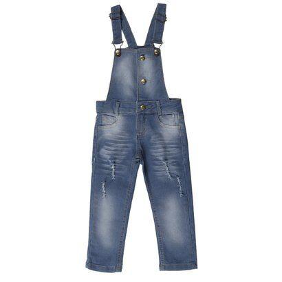 Macacão Jardineira Imports Baby Infantil - Feminino-Azul