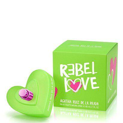 Perfume Rebel Love Feminino Agatha Ruiz de La Prada Eau de Toilette 80ml - Feminino-Incolor