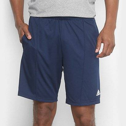 Short Adidas 3S Masculino - Masculino-Marinho+Branco