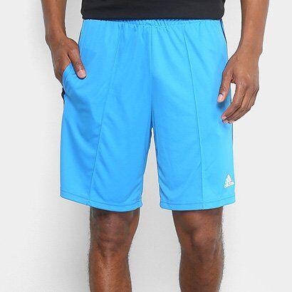 Short Adidas 3S Masculino - Masculino-Azul+Branco