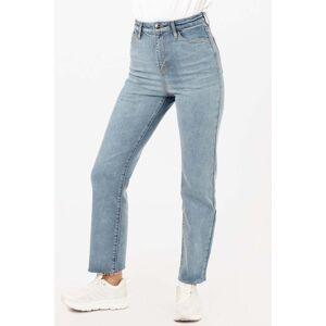 FAMME - Vintage Blue High Straight Raw Hem Jeans - M
