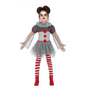 Vegaoo Psykopat klovn kostume med leggings - pige - 95-105 cm (3-4 år)