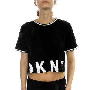 DKNY Spell It Out SS Top - Black * Kampagne *