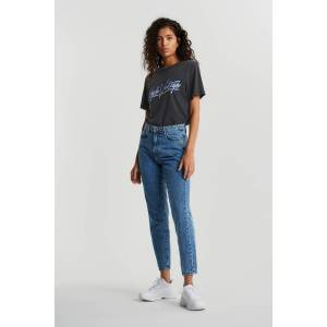Gina Tricot Dagny mom jeans Female Dk mid blue 44