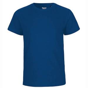 Neutral Økologisk Børne T-Shirts-Blå-116/122 116/122