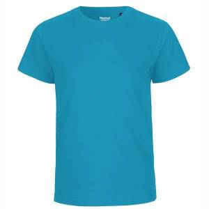 Neutral Økologisk Børne T-Shirts-Turkis-104/110 104/110