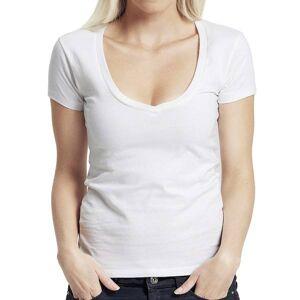 Neutral Økologisk Ladies Dyp V-Hals T-Shirts-Hvid-M M