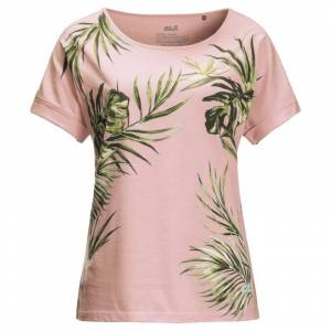 Jack Wolfskin Women's Tropical Leaf Tee Pink Pink XS