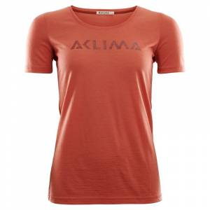 Aclima LightWool T-shirt Logo Women Orange Orange L